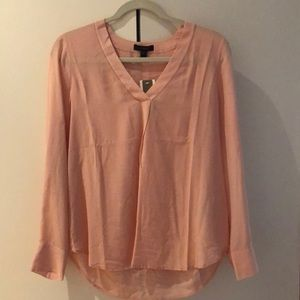 NWT JCrew pale pink silk blouse